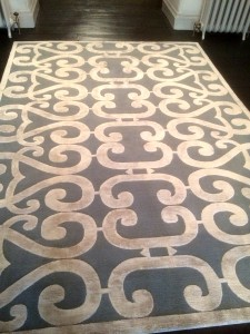 professional cleaning for carpets and rugs - Stained rug