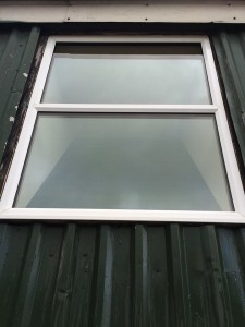 After pure water window cleaning